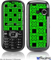 LG Rumor 2 Skin - Criss Cross Green