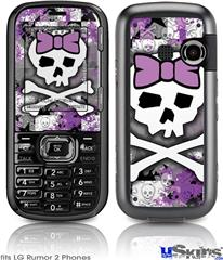 LG Rumor 2 Skin - Princess Skull Purple