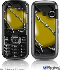 LG Rumor 2 Skin - Barbwire Heart Yellow