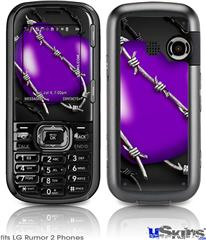 LG Rumor 2 Skin - Barbwire Heart Purple