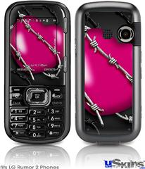LG Rumor 2 Skin - Barbwire Heart Hot Pink