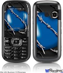 LG Rumor 2 Skin - Barbwire Heart Blue
