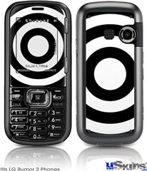 LG Rumor 2 Skin - Bullseye Black and White