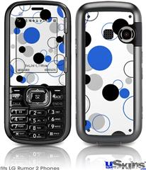 LG Rumor 2 Skin - Lots of Dots Blue on White