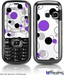 LG Rumor 2 Skin - Lots of Dots Purple on White