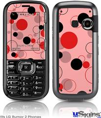 LG Rumor 2 Skin - Lots of Dots Red on Pink