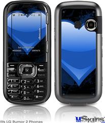 LG Rumor 2 Skin - Glass Heart Grunge Blue