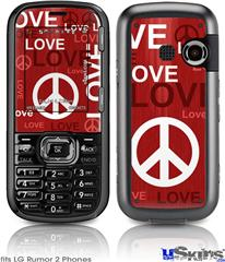 LG Rumor 2 Skin - Love and Peace Red
