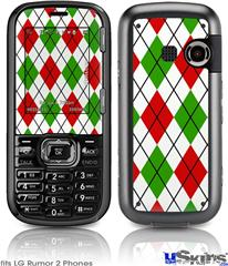 LG Rumor 2 Skin - Argyle Red and Green