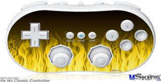 Wii Classic Controller Skin - Fire Flames Yellow
