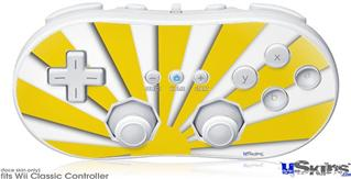 Wii Classic Controller Skin - Rising Sun Japanese Yellow
