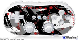 Wii Classic Controller Skin - Abstract 02 Red