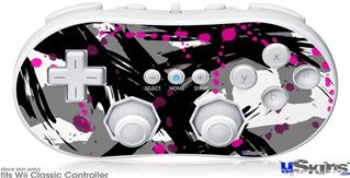 Wii Classic Controller Skin - Abstract 02 Pink