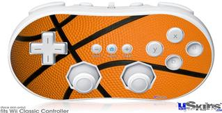 Wii Classic Controller Skin - Basketball