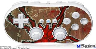 Wii Classic Controller Skin - Weaving Spiders