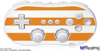 Wii Classic Controller Skin - Psycho Stripes Orange and White