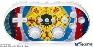 Wii Classic Controller Skin - Tie Dye Circles and Squares 101