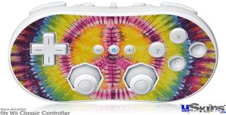 Wii Classic Controller Skin - Tie Dye Peace Sign 109