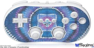 Wii Classic Controller Skin - Tie Dye Circles and Squares 100
