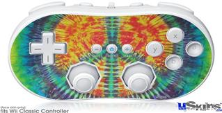 Wii Classic Controller Skin - Tie Dye Peace Sign 111
