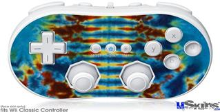Wii Classic Controller Skin - Tie Dye Spine 106