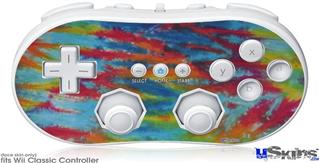 Wii Classic Controller Skin - Tie Dye Tiger 100
