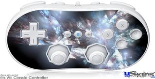 Wii Classic Controller Skin - Coral Tesseract