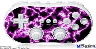 Wii Classic Controller Skin - Electrify Hot Pink