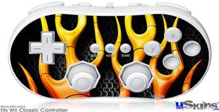 Wii Classic Controller Skin - Metal Flames