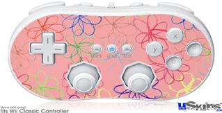 Wii Classic Controller Skin - Kearas Flowers on Pink