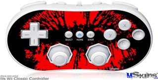 Wii Classic Controller Skin - Big Kiss Red on Black