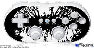 Wii Classic Controller Skin - Big Kiss White on Black