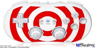 Wii Classic Controller Skin - Bullseye Red and White