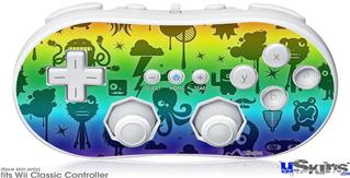 Wii Classic Controller Skin - Cute Rainbow Monsters