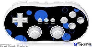 Wii Classic Controller Skin - Lots of Dots Blue on Black