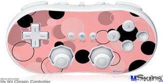 Wii Classic Controller Skin - Lots of Dots Pink on Pink
