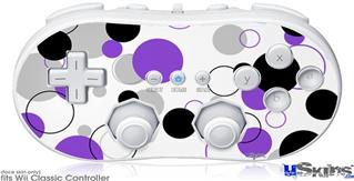 Wii Classic Controller Skin - Lots of Dots Purple on White