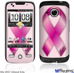HTC Droid Eris Skin - Hope Breast Cancer Pink Ribbon on Pink