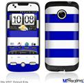 HTC Droid Eris Skin - Psycho Stripes Blue and White