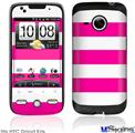HTC Droid Eris Skin - Psycho Stripes Hot Pink and White