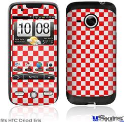HTC Droid Eris Skin - Checkered Canvas Red and White
