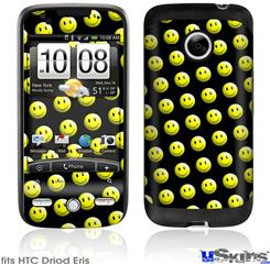 HTC Droid Eris Skin - Smileys on Black