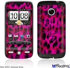 HTC Droid Eris Skin - Pink Distressed Leopard