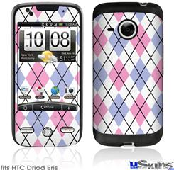 HTC Droid Eris Skin - Argyle Pink and Blue