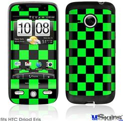 HTC Droid Eris Skin - Checkers Green