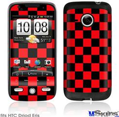 HTC Droid Eris Skin - Checkers Red