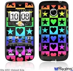 HTC Droid Eris Skin - Hearts And Stars Rainbow