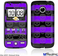 HTC Droid Eris Skin - Skull Stripes Purple