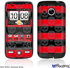 HTC Droid Eris Skin - Skull Stripes Red