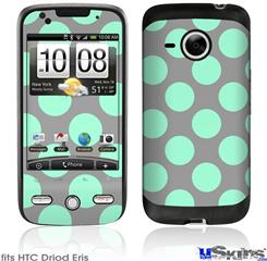 HTC Droid Eris Skin - Kearas Polka Dots Mint And Gray